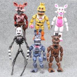 14.5-17cm 6pcs lot PVC Five Nights At Freddy Action Figure FNAF Bonnie Foxy Freddy Fazbear Bear Dolls Toys on Sale