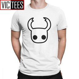 Discount men t shirts 3d graphics Hollow Knight T-Shirt for Men Skull Video Game Funny 100 Percent Cotton Crew Neck Tshirt Graphic 3D Print Clothes 210420