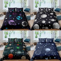 teen twin bedding sets Australia - Bedding sets Comforter Cover Set Queen Twin Full Planet Space Printed Duvet Soft Polyester Home Decor For Teens Kids Boy
