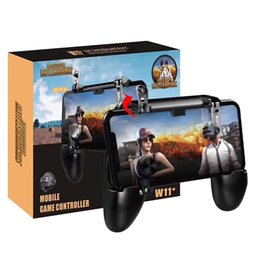 Wholesale W11+ Mobile Gamepad Game Handle Phone Case Controllers holder Joysticks fire trigger all in one for pubg