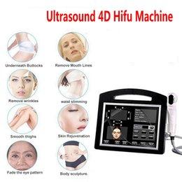 venda por atacado Portátil alta intensidade focada ultra-som 4D hifu máquina 12 linhas 20000 tiros enfrentam a pele apertar a pele de remoção de rugas Beleza de emagrecimento