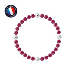 PERLINEA Round Freshwater Pearl Lucky Bracelet 56 mm Cherry Red Woman Jewelry on Sale