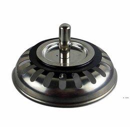 Ingrosso Alta qualità 79.3mm 304 Acciaio inossidabile Cucina in acciaio inox Dreni Lavello Sinvallo Stopper Scarto Plug filtro Bagno Basin Drain HWD6369