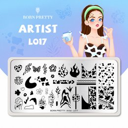 ingrosso stampa arti mucca-PerfectionsPerfections Nail Stamping Plates Nail Board Bow Stampa Pattern Nail Art Board Template Design in acciaio inox Tema estate