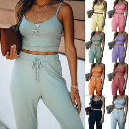Wholesale style tank top for men resale online - Tops High quality Women s Tees with Short Tanks for Women Men Clothing Couple Outfit Casual Fashion Solid Color Camis Style Suit piece Set