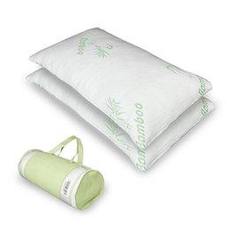 US сток гипоаллергенной бамбуковой волокна памяю пена подушка король мягкий и удобный дышащий поглощает пот (один) на Распродаже