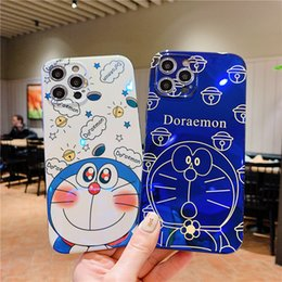 ingrosso iphone casi doraemon-Blu ray Cartoon Doraemon Case per iPhone Mini Pro Max Soft IMD Cover per iPhone x XR XS Max Plus Back Cover