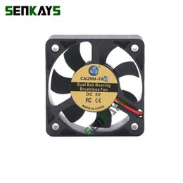 Wholesale exhausted fan resale online - Fans Coolings DC V V V Dual Ball Bearing Cooling Fan MM x50x10mm Computer CPU Cooler Mini Small Exhaust For D Printer XH2