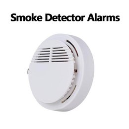 Wholesale Drop Ship! Smoke Detector Alarms System Sensor Fire Alarm Detached Wireless Detectors Home Security High Sensitivity Stable LED 85DB 9V Battery