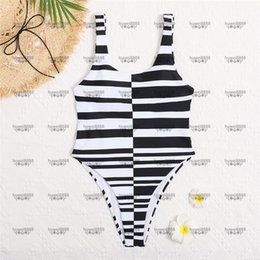 Stripes Hipster Swimwear Padded Push Up Women's One-piece Swimsuits Outdoor Beach Swimming Travel Bandage Must Wear on Sale