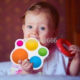 Venta al por mayor de 2021 Dimple simple Fidget Toys Fidget Push Push Silicone Sensory Toys Infantil Educación Temprana Atención Aprendizaje Juguetes