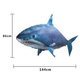 Пульт дистанционного управления летучей рыбы акулы Clownfish Electric Air Надувные Летающие рыбы Пульт дистанционного управления игрушки Подарки для украшения KidsParty на Распродаже