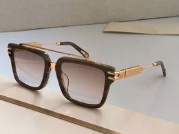 2021 Trendy Oversize Maybach Sunglass Women Luxury Fashion Gradient Rimls Shaded Big Metal Frame Square Sun Glass MenQJSQ