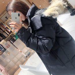 Veste d'hiver Femmes Dames Real Wolf Fourrure Collier Double Manteaux à l'intérieur de la chaude Manteau Femme Slim Fit Trouver des parcs PARKAS DE OUVERTURE PARKAS DE TOPITÉ VESTES EURPORTABLES 7 Style à choisir Choisir en Solde