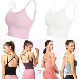 2021 Womens Lu Tanks Lulu Yoga Bra Fitnessstudio Ausbildung Training Top Tops Beauty Kunststoff Sport Unterwäsche Frauen sammeln laufende Fitness im Angebot