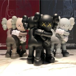 Wholesale KAWS Together embrace action figures toy Doll Painted cast vinyl 28cm Packed in color box High-end gift Decoration Origina Fake
