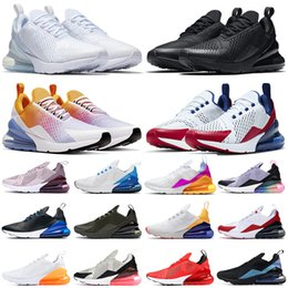 Wholesale 270 running shoes 270s triple black white red women men Chaussures Bred Be True BARELY ROSE mens trainers Outdoor Sport Sneakers