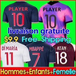 venda por atacado Kids PSG Paris saint germain kits 20 21 Soccer Jersey 2020 2021 Mbappé ICARDI Neymar camisa JR homens crianças conjuntos de uniformes maillot de hommes Paris pé