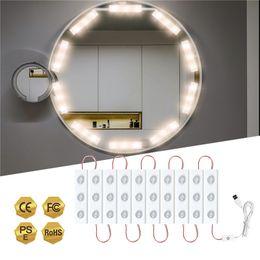 Toptan satış Vanity ayna ışıkları Hollywood tarzı ultra parlak led modülleri makyaj masa banyo için USB dokunmatik kısım kontrol ampuller