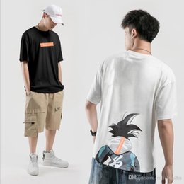 goku shirts Australia - Top T-shirt 2021 Loose Short-sleeved Goku Men T-shirt Summer Free Anime F244 Print Shipping Srjwn