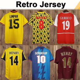 Toptan satış 02 05 HENRY Bergkamp V Persie Erkek Retro Futbol Formaları 94 97 Vieira Merson Adams Ev Uzakta 3rd Futbol Gömlek Kısa Uzun Kollu Üniformalar