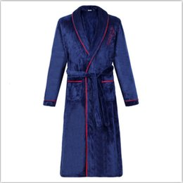 Wholesale kimono sleep for sale - Group buy Flannel Bath Gown Winter Bathrobe Men XL Thick Men s Robe Terry Long Sleeve Solid Male Sleep Gown Women Nightgown Kimono Lounge
