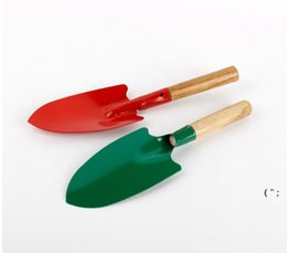 Mini Pá de Jardinagem Pá Colorido Metal Pequenas Shoveles Garden Spade Ferramentas de Hardware Digging Kids Spades Ferramenta Owe6397 em Promoção