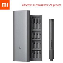 Kit de tournevis Xiaomi MI Touches d'alimentation Définit les tournevis de précision électrique-Kit 2 Couple d'engrenage 400 Vis 1 Type-C Chargement en aluminium magnétique Boîtier 24 S2 en Solde