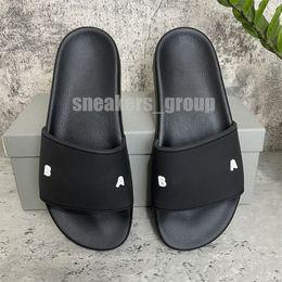 2021 Hoge kwaliteit heren dames slipper lettertype schoenen schuif mode sandalen platte flip flop met doos maat 36-46
