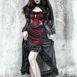 Casual Dresses SweetCool Spring Autumn Harajuku Punk Girls Black Gothic Drawstring Lace Fashion Temperament Sling Dress