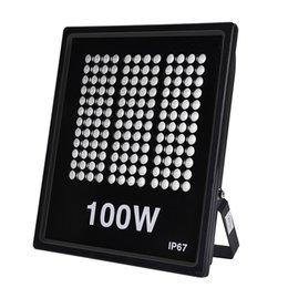 Wholesale Stock In USA Outdoor Lighting LED Floodlights 100W AC110V 3000K 6000K SMD2835 10000Lm Suitable For Garden Yard Warehouse Garage Factory Workshop