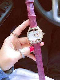 Wholesale Unisex watches steel band color fashion alphabet plate watch simple multiple colors