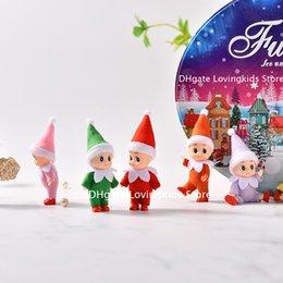 5 pz / lotto Bambini elfi del bambino con le scarpe piedi braccia mobili braccia e gambe natale elfo giocattolo bambino elfi bambola in Offerta