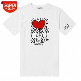 streetwear Keith Haring graffiti artist co-branded European and American fashion brand cotton short-sleeved t-shirt for men women #4N58