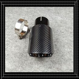 one piece car accessories UK - One Piece Car Accessories Nozzles Fit For B-MW B-ENZ A-UDI Glossy Black Carbon Fiber+Stainless Steel Exhaust Tip Muffler Pipe Motorcycle Sys