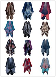 Wholesale Ladies scarf shawl fashion cashmere Scarves jacquard split thick warm luxury accessories rs01