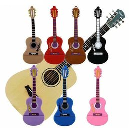 guitar usb flash drive Canada - Guitar USB Flash Drives 128gb Pendrive 64gb Memory USB2.0 Stick 32gb Pen Drive 8gb