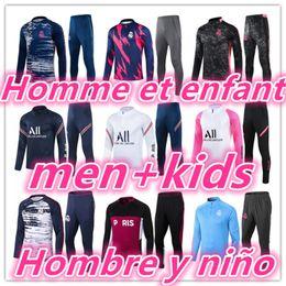 2021 Mens Tracksuit Kids Futebol Treinamento Treinamento Kits 20 21 Homens Criança Futebol Tracksuits Jogging Jaqueta Kit Chandal Futbol em Promoção