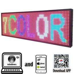 """Panneau LED programmable Écroits électroniques de défilement extérieur de l'extérieur de 39 """"x 14"""" Contrôle de téléphone portable complet de téléphone portable ouvert en cours d'exécution en Solde"""