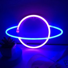 Led Neon Sign Light USB Battery Dual Use Indoor Night Planet Space Love Mixed Color For Xmas Party Wedding Table Decorations Holiday Lighting on Sale