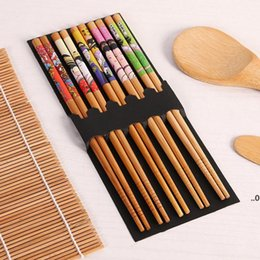 Sushi Making Tools Bamboo Sushi Kit Including 2 Rolling Mats 1 Paddle 1 Spreader 5 Pairs Chopsticks FWA8017 on Sale
