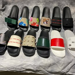 Toptan satış Yüksek Kaliteli Şık Terlik Kaplanlar Moda Klasikleri Slaytlar Sandalet Erkek Kadın Ayakkabı Kaplan Kedi Tasarım Yaz HUARACHES HOME011 2