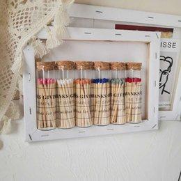 venda por atacado Cor alongada fósforos frasco vintage retro charuto de madeira personalizado presente criativo aroma vela companheiro opções de mutile disponível