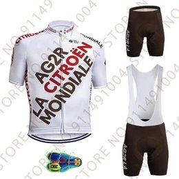 Wholesale Ag2r Cycling Jersey Set Team Mens Summer Clothing Road Bike Shirts Suit Bicycle Bib Shorts MTB Wear Ropa Maillot Cyclisme Racing Sets