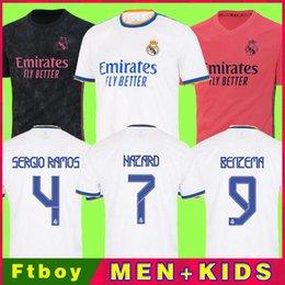real madrid camiseta de fútbol 20 21 HAZARD SERGIO RAMOS BENZEMA VINICIUS ASENSIO MODRIC chandal hombres + conjunto de kits para niños 2020 2021 de la soccer jerseys en venta