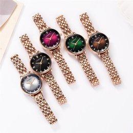 Wristwatches Luxury Women Zegarki Rose Gold Pas Proste Watch Styl Europejski Zegarek Kwarcowy Lady Zegarek na kobietę Moda Sukienka Bransoletka #