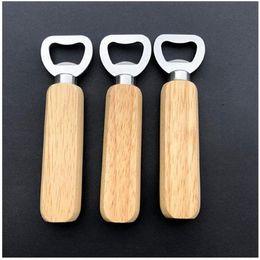 Опт Деревянная ручка открывалка для бутылок портативные открывающие пива бар кухня инструменты для вечеринки для пива открывалка бутылки вина открывала море доставку CM14
