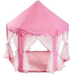 Опт Princess Castle Play House Большой Открытый Детский Палатка для Девочек Розовый Синий 1,4 м Диаметр 210T PONGEE
