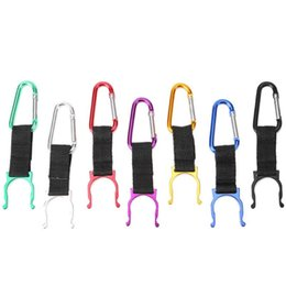 buckle water bottle clip NZ - 10pcs D-shaped Hanging Buckle Portable Water Bottle Holder Mineral Clip For Camping Hiking (Random Color) Bottles & Cages