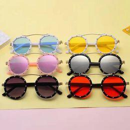 Fashion Steampunk Kids Children Sunglasses Retro Round Sun Glasses for Boys Girls Brand Circle Glasses Eyeglasses 658 X2 on Sale